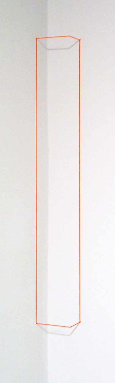 Orange Day-glo Corner Piece